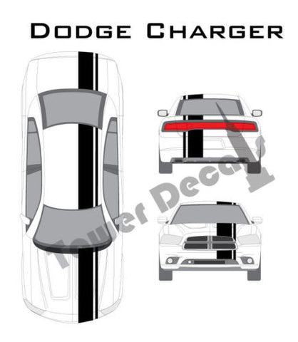 "3-9"" Single Rally Racing Pin Stripe Cast Vinyl Decal Fits Dodge Charger"