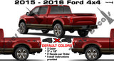 4x4 BED SIDE VINYL DECAL STICKER 3 COLOR FOR FORD F150 F250 F350 F450 SUPERDUTY