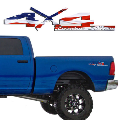 4X4 Freedom Edition Shotgun Vinyl Decal Fit Dodge Truck 2006-2016 1500 2500 3500