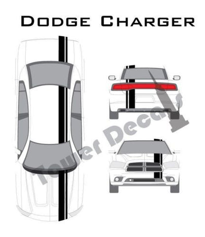 "3-5"" Single Rally Racing Pin Stripe Cast Vinyl Decal Fits Dodge Charger SRT"