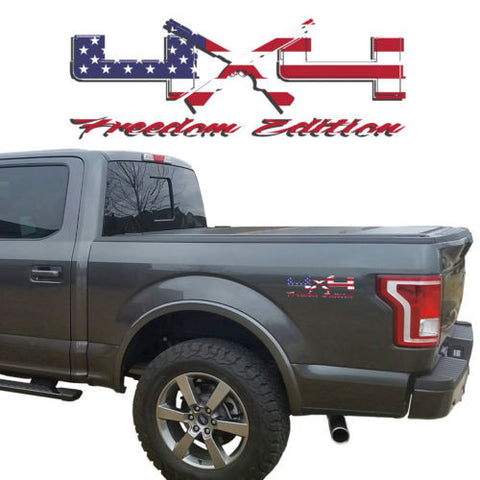 4X4 Freedom Edition Shotgun Vinyl Decal fit Ford Trucks 2008-2016 F150 F250 F350