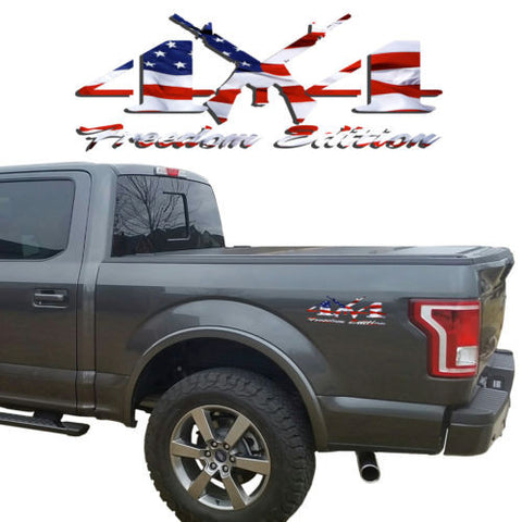 4X4 Freedom Edition AR 15 Vinyl Decal Jeep Nissan GMC Chevrolet Toyota