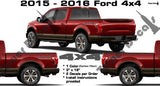 4x4 VINYL DECAL CHROME CARBON FIBER FOR SUPERDUTY FORD F150 F250 F350 F450