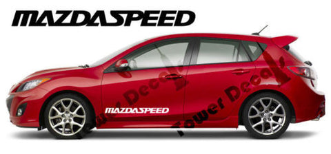 Mazda Mazdaspeed 2-30 x 2.5 inch Door Vinyl Decal Accessory Sticker