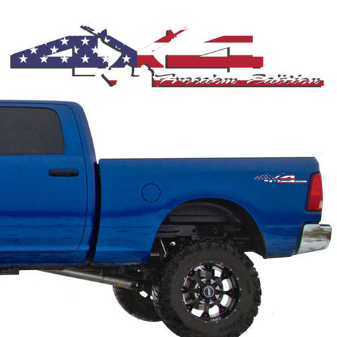 4X4 Freedom Edition AR15 Vinyl Decals Fits Dodge Trucks 2006-2016 1500 2500 3500