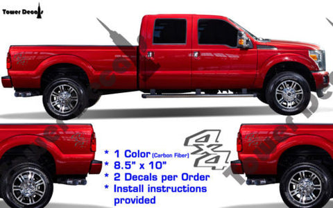 4X4 VINYL DECAL FITS FORD TRUCKS 2008-2016 F250 F350 SUPER DUTY TRUCK BED SIDE