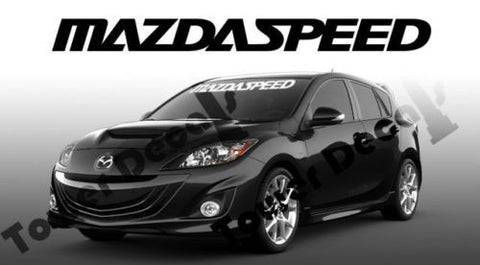 Mazda Mazdaspeed Windshield Window Banner 36-inch Vinyl Decal Accessory Sticker