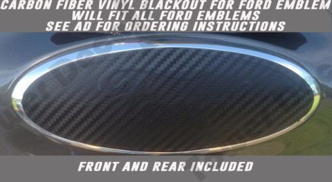 CARBON FIBER VINYL OVERLAY BLACKOUT FITS FORD EMBLEMS F150 F250 F350 SUPER DUTY