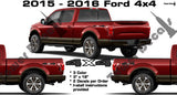 4x4 VINYL DECAL STICKER MULTI COLOR FOR FORD SUPERDUTY F150 F250 F350 F450 TRUCK