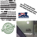 12 inch Distressed American Flags Vinyl Decals fits Jeep Trucks Universal