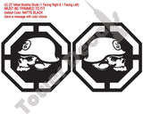 "Skulls (2) 22"" X 22"" Window Bed Decals Fits: F150 F250 Tundra Ram Silverado GMC"