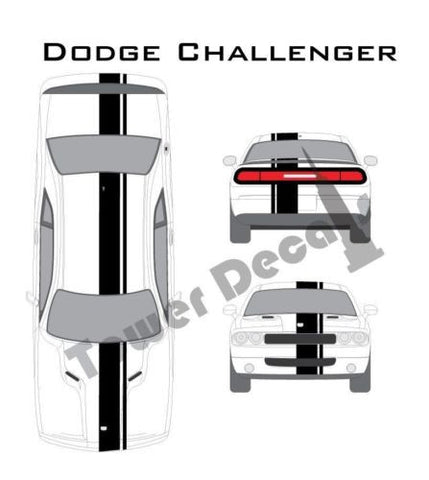 """3-9/"""" Single Rally Racing Stripe with Pin Stripe Cast Vinyl Decal Fits Scion TC"""