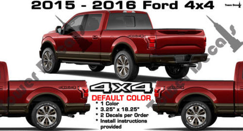 4x4 BED SIDE VINYL DECAL STICKER FOR F150 F250 F350 F450 FORD SUPERDUTY
