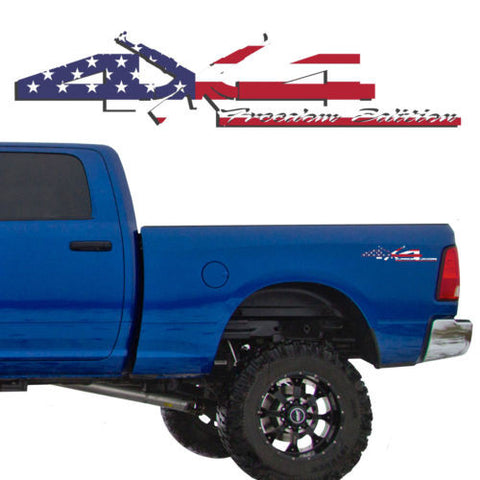 4X4 Freedom Edition AK47 Vinyl Decals Fits Dodge Truck 2006-2016 1500 2500 3500
