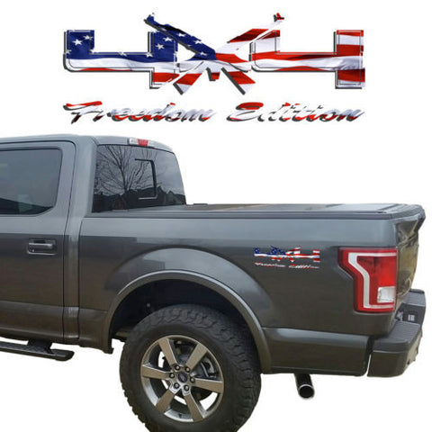4X4 Freedom Edition AK47 Vinyl Decals Fits Ford Trucks 2008-2016 F150 F250 F350
