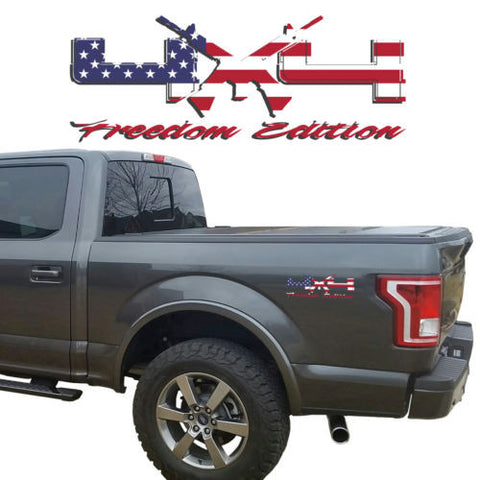 4X4 Freedom Edition AR15 Vinyl Decals Fits Ford Trucks 2008-2016 F150 F250 F350