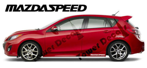 Mazda Mazdaspeed 2 Side skirt 16 x 1.5 inch Vinyl Decal Accessory Sticker