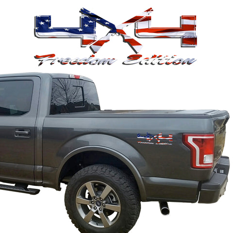4X4 Freedom Edition Shotgun Vinyl Decal fit Ford Trucks 2008-2017 F150 F250 F350