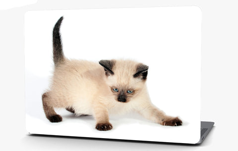 Siamese Kitten Vinyl Laptop Computer Skin Sticker Decal Wrap Macbook Various Sizes