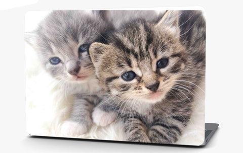 Sister kittens Vinyl Laptop Computer Skin Sticker Decal Wrap Macbook Various Sizes