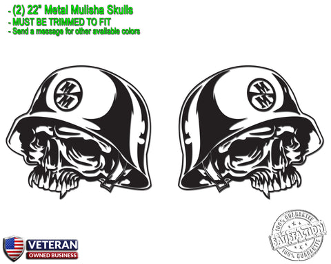 "(2) Metal Mulisha Skull Vinyl Decals 20"" X 20"" Motocross Window Truck Bedside"