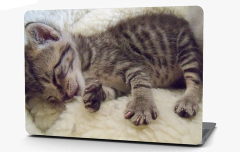 Sleeping Kitten Vinyl Laptop Computer Skin Sticker Decal Wrap Macbook Various Sizes