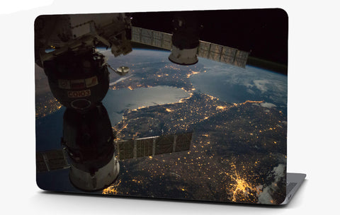 Satellite in Space Vinyl Laptop Computer Skin Sticker Decal Wrap Macbook Various Sizes