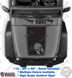 Hood Blackout Spartan Warrior Helmet Vinyl Decal fits Jeep Wrangler JK TJ LJ