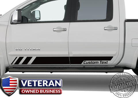 Universal Custom Text Strobe Forward door stripes Decals Vinyl Stickers Bedside Set: fits Toyota Ford Ram Chevy GMC Nissan