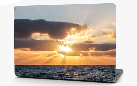 Sunset Over the Ocean Landscape Vinyl Laptop Computer Skin Sticker Decal Wrap Macbook Various Sizes