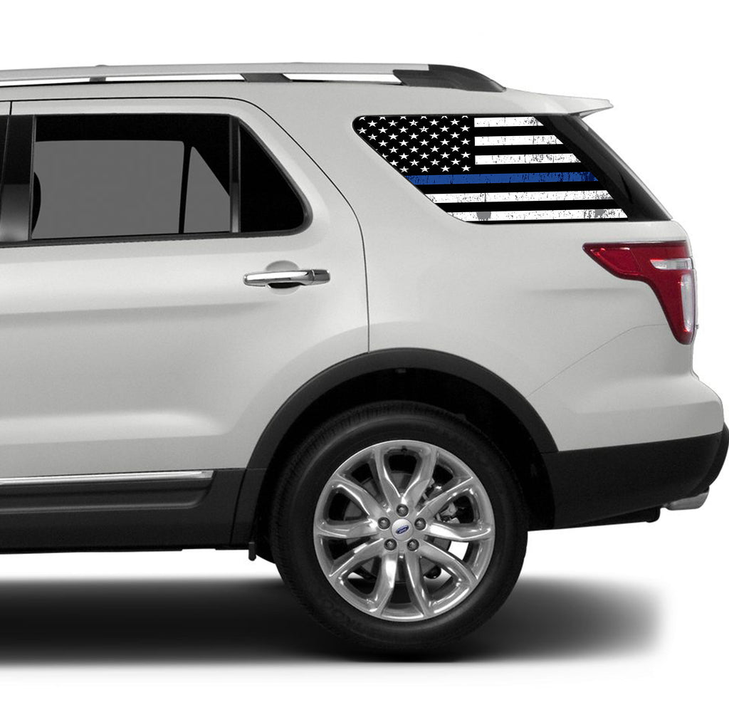 Universal Thin Blue Line American Flag Window Tint