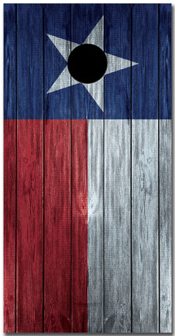 2x Texas Flag Distressed Wood Cornhole Board Bag Toss Vinyl Wrap Set- Universal Fit Oracal 3M