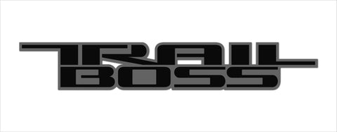 Trail Boss 2 color Vinyl Decal for Truck Bed Fits: GMC Chevrolet Silverado