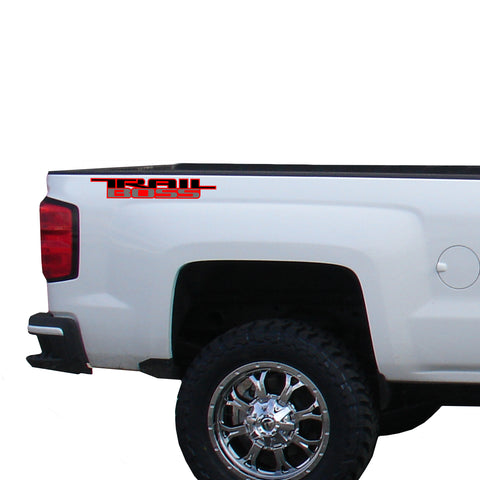 Trail Boss 3 color Vinyl Decal for Truck Bed Fits: GMC Chevrolet Silverado