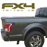 FX4 TRITON V8 VINYL DECALS FITS: FORD TRUCK 2008-2017 F150 F250 F350 SUPER DUTY