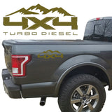 4X4 TURBO DIESEL BEDSIDE VINYL DECAL FORD TRUCKS 2008-2017 F250 F350 SUPER DUTY