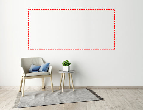 Custom Interior Wall Decal Up To 96 x 46 Inches