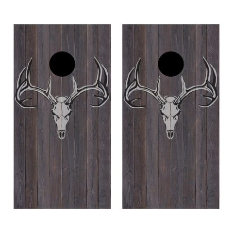 2 x Cornhole Board Bag Toss Vinyl Wrap Set-Hunting Deer Head Universal Fit Oracal 3M