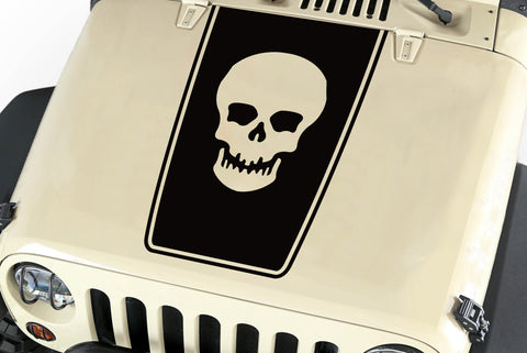 Hood Blackout Skull Vinyl Decal Sticker (20) fits: Jeep Wrangler JK TJ YJ