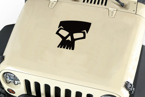 Skull Hood Body Vinyl Decal Sticker (17) fits: Jeep Wrangler JK TJ YJ
