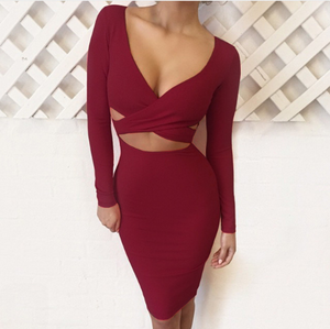 Brielle - Criss Cross Bodycon Dress