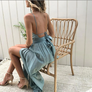 Melissa - Boho Halter Dress