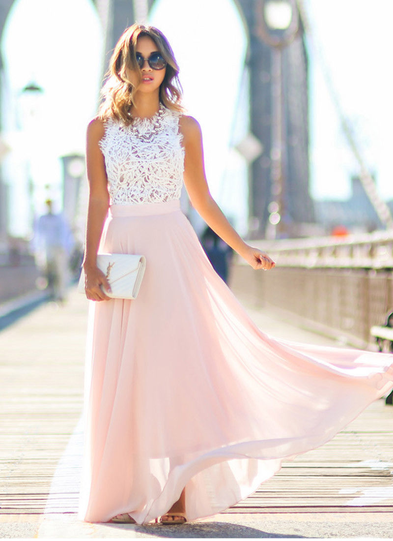 Amber - Summer Lace Maxi Dress