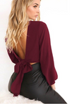 Ezra - Long Sleeve V-Neck Top