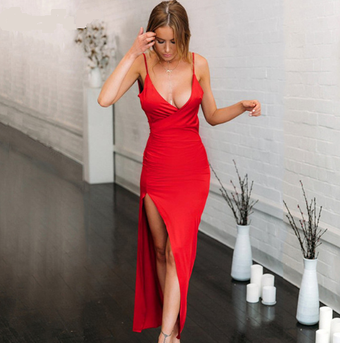 Katie - High Slit Dress