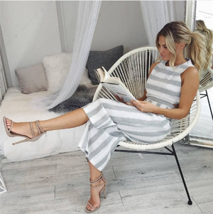 Kathleen - Pinstriped Jumpsuit