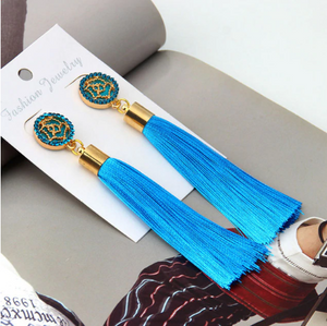 Diana - Boho Tassel Drop Earrings