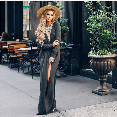 Maureen - Wrap-Up Maxi Dress