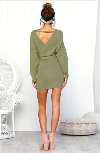 Ivy - Knitted Wrap-Up Dress