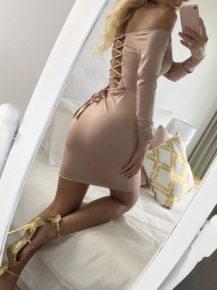 Hayden - Sexy Back Lace up Dress